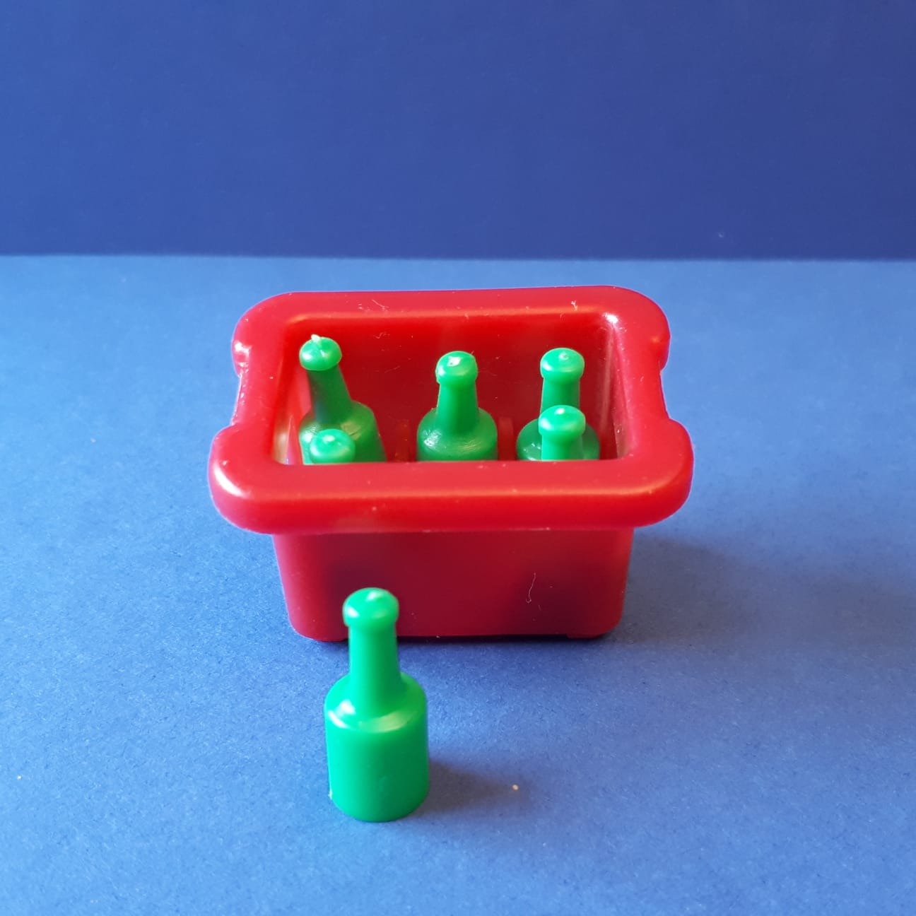 Playmobil bierkratje rood